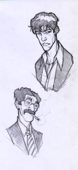Dylan and Groucho -sketch'08
