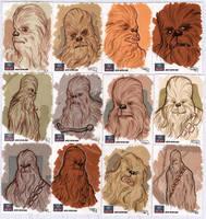 STAR WARS Sketchcards - Chewbacca by DenisM79