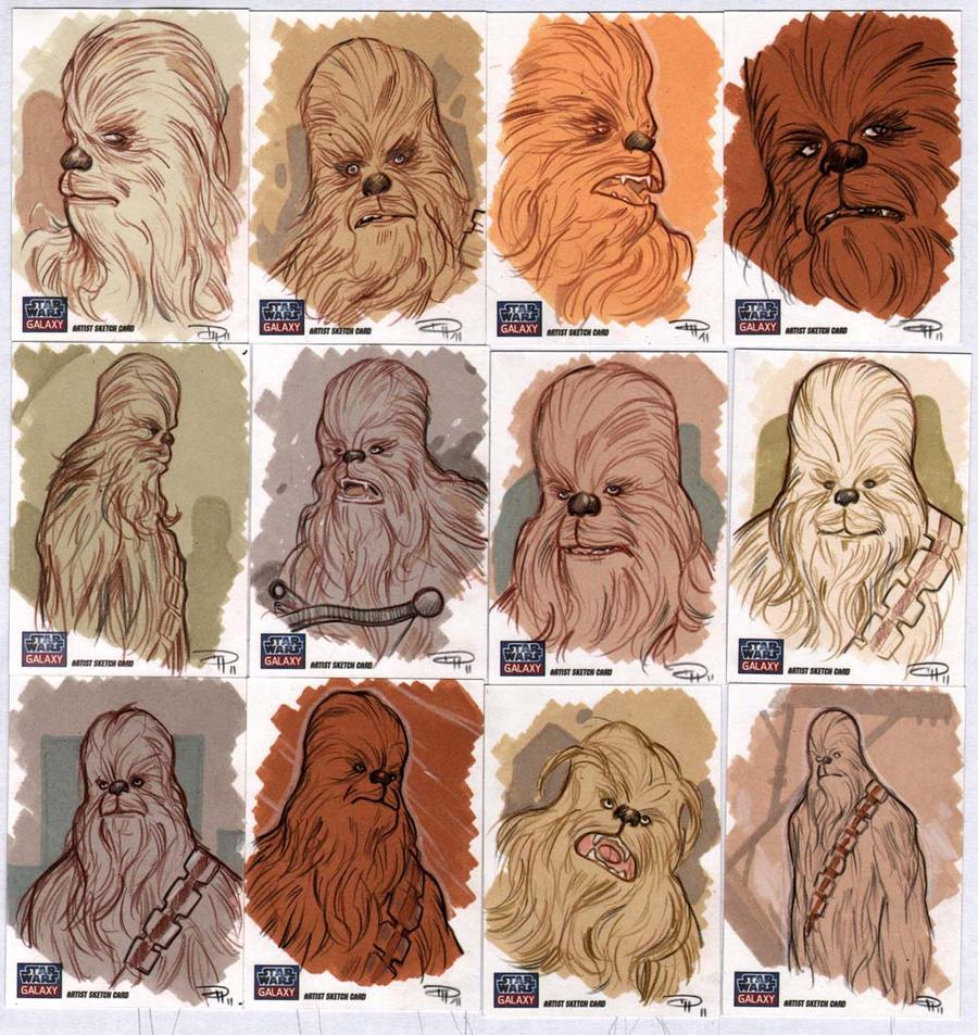 STAR WARS Sketchcards - Chewbacca