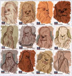 STAR WARS Sketchcards - Chewbacca