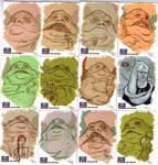 STAR WARS Sketchcards - Jabba