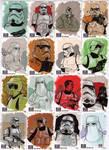 STAR WARS Sketchcards - Troopers