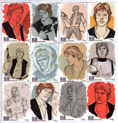 STAR WARS Sketchcards - Han Solo