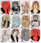 STAR WARS Sketchcards - Han Solo by DenisM79
