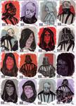 STAR WARS Sketchcards - Vader and Palpatine