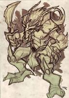 Warrior Sketch by DenisM79