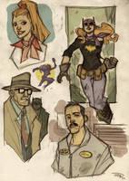 Batgirl-Gordon-Alfred Rockabilly by DenisM79
