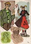 The Riddler and Harley Quinn Rockabilly