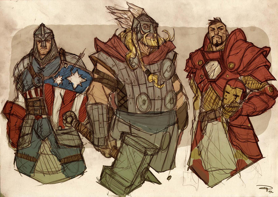 AVENGERS Fantasy Re-design 1 by DenisM79
