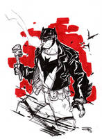 Batman Rockabilly  - black and white by DenisM79