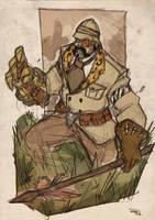 Kraven Steampunk Re-Design by DenisM79
