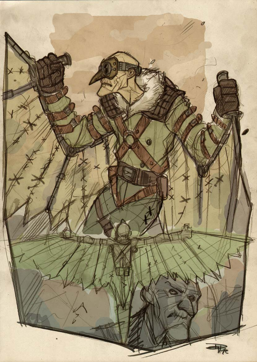 Vulture Steampunk Re-Design by DenisM79
