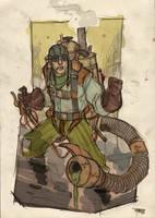 Scorpion Steampunk Re-Design by DenisM79