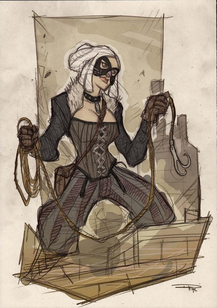 Black Cat Steampunk Re-Design by DenisM79