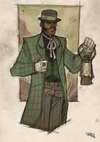Justice League Western Re-Design - GREEN LANTERN by DenisM79