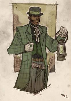 Justice League Western Re-Design - GREEN LANTERN