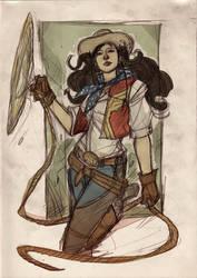 Justice League Western Re-Design - WONDER WOMAN by DenisM79