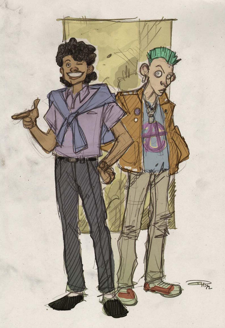 STAR WARS 80s High School Re-Design - Lando+Greedo by DenisM79