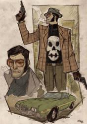 Punisher 70's Vigilant Re-Design by DenisM79