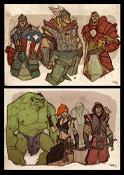 AVENGERS Fantasy Re-design - Gallery by DenisM79