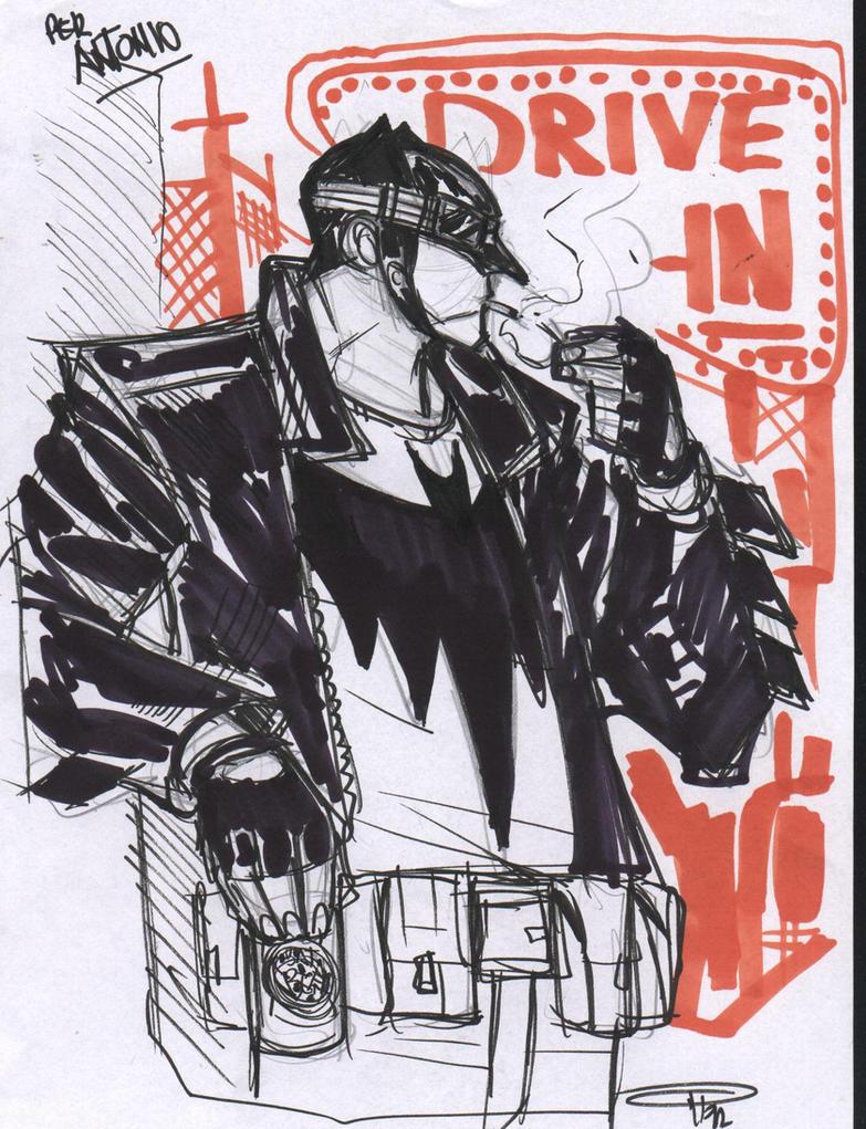 Batman Rockabilly - sketch by DenisM79