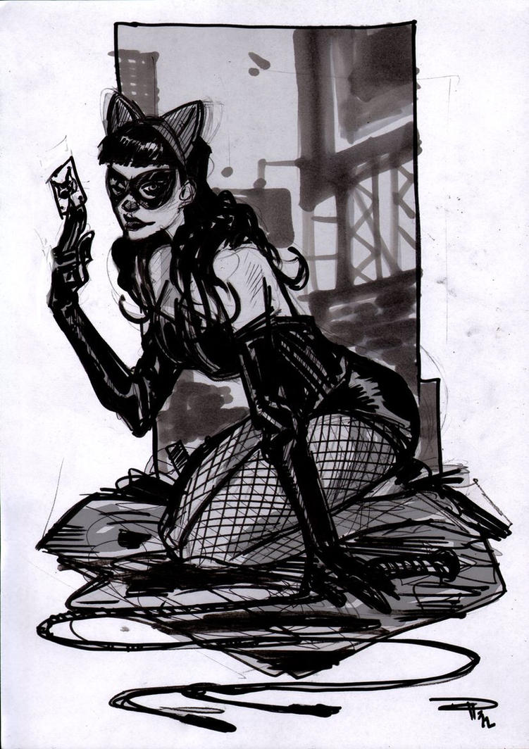 Catwoman Rockabilly sketch by DenisM79