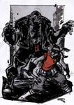 Robin VS Bane - Rockabilly Universe