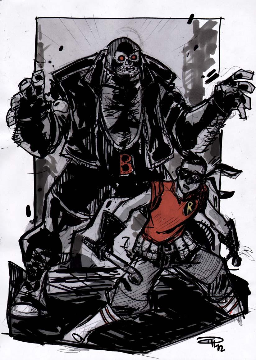 Robin VS Bane - Rockabilly Universe by DenisM79