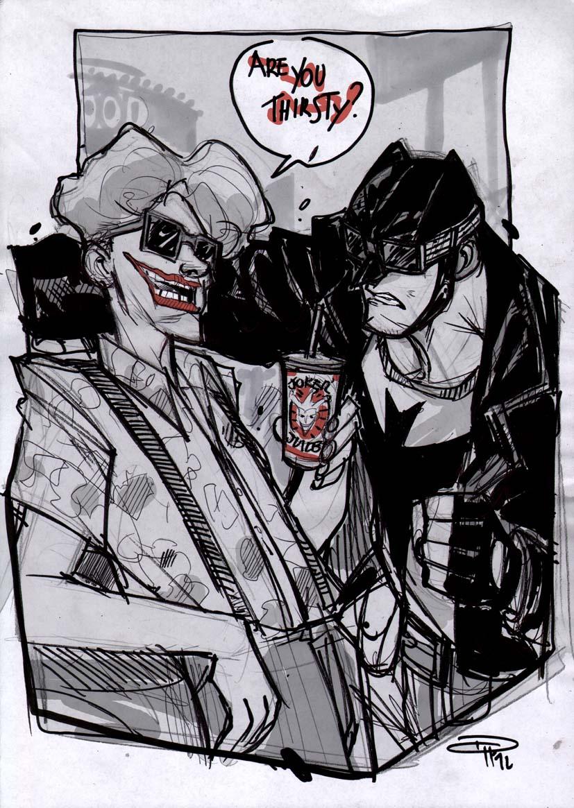 Batman and Joker - Rockabilly Universe by DenisM79