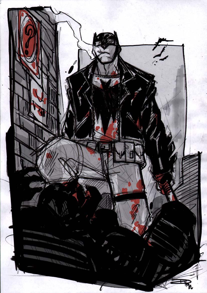 Batman Rockabilly alley sketch by DenisM79