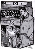 Bruce Wayne and Alfred - Rockabilly Re-Design by DenisM79