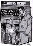 Bruce Wayne and Alfred - Rockabilly Re-Design