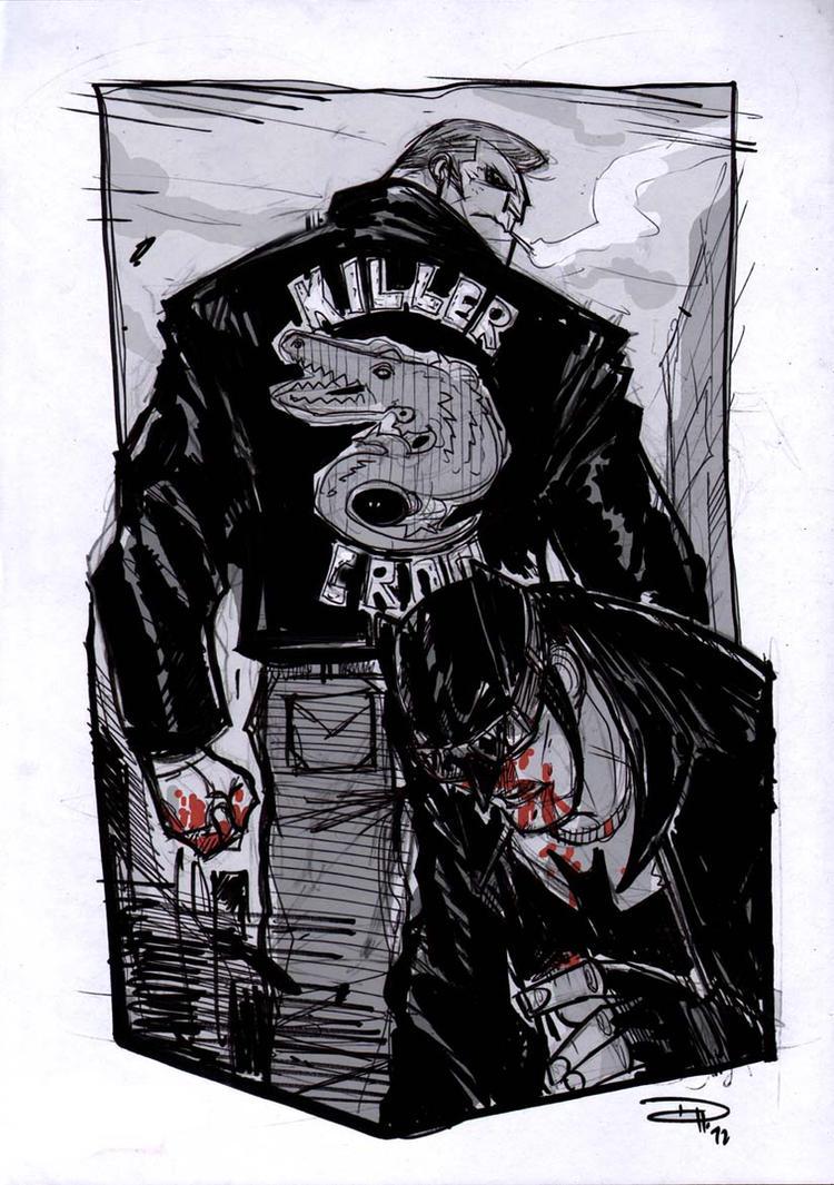 Batman VS Killer Croc - Rockabilly Universe by DenisM79