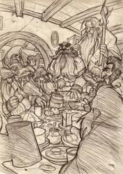 THE HOBBIT by Denis Medri - Dwarfs wip 2