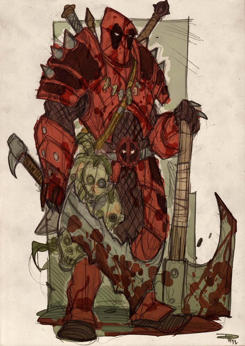 Deadpool Fantasy Re-Design by DenisM79