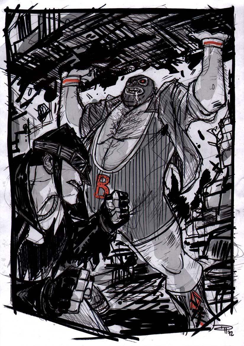 Batman VS Bane - Rockabilly Universe by DenisM79
