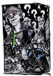 Nightwing and The Riddler - Rockabilly Universe