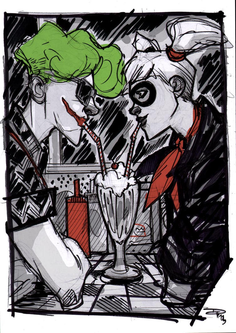 Joker and Harley - Rockabilly Universe by DenisM79