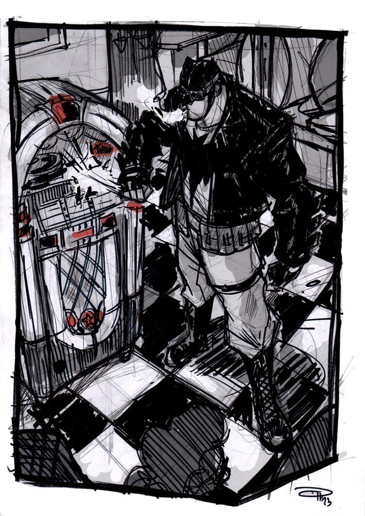 Batman at the Jukebox - Rockabilly Universe by DenisM79