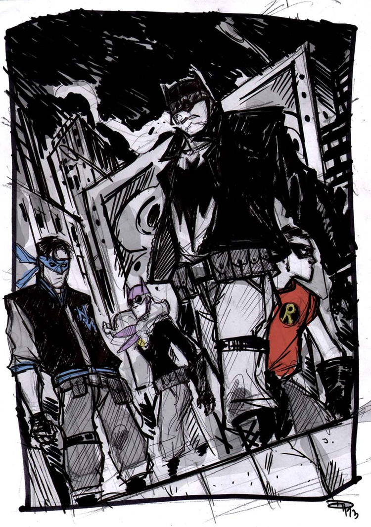 Bat-Family - Rockabilly Universe by DenisM79