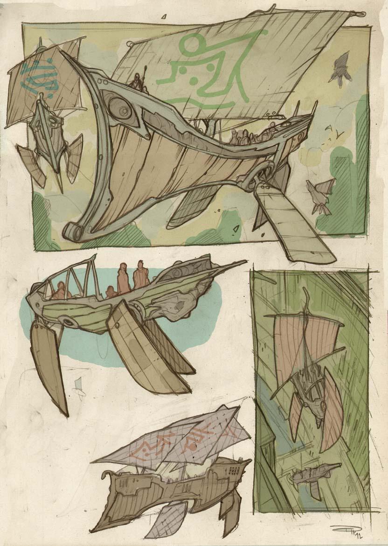 ATLANTIS - The Las Survivor  -  ships sketches by DenisM79