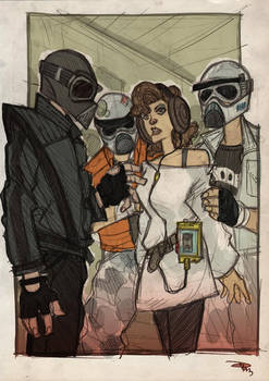 STAR WARS 80s High School - Vader, Leia and Troops