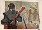 STAR WARS 80's High School - Vader and Luke