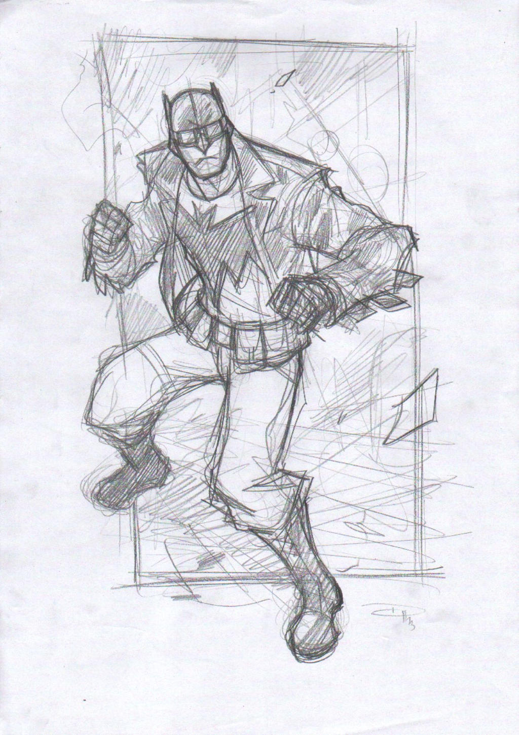 Rockabilly Batman - Sketch by DenisM79