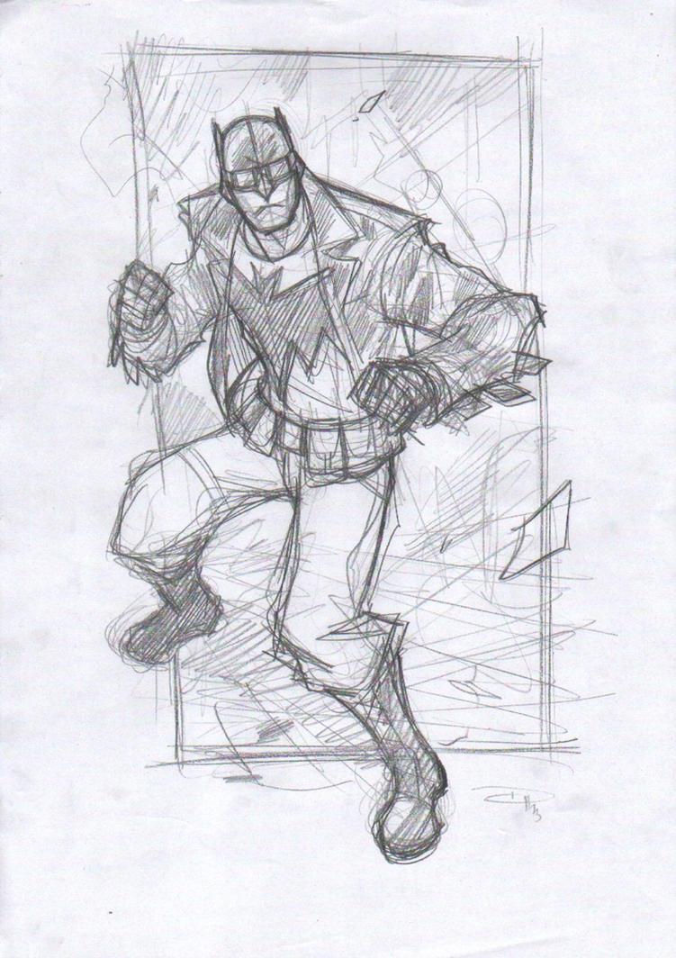 Rockabilly Batman - Sketch by DenisM79