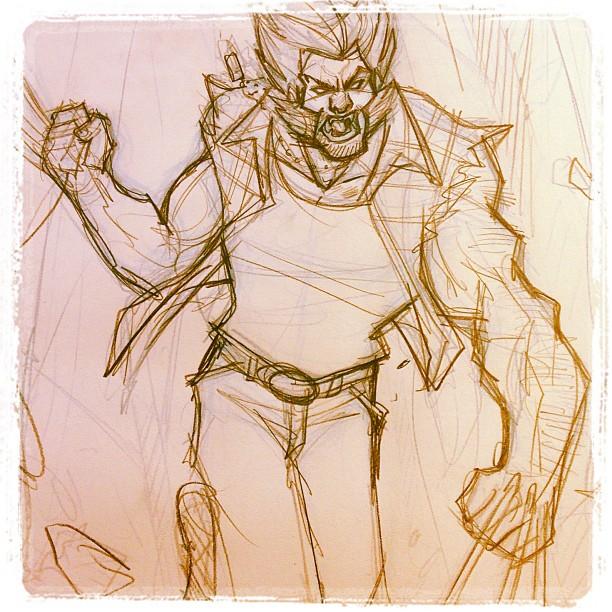 Logan - Commission sketch detail by DenisM79