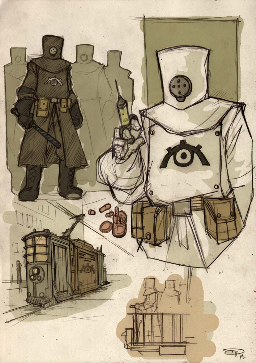 FRAGS - Militia Sketches 2012 by DenisM79