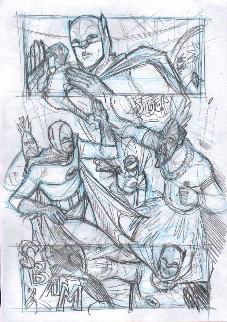 Batman 66 - sample 2013  Fight by DenisM79