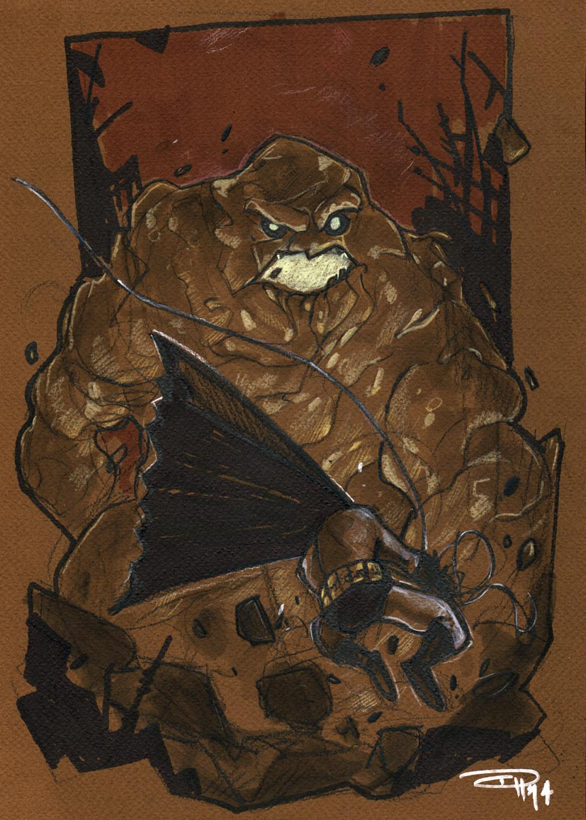 Batman VS Clayface by DenisM79
