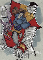 Colossus and Kitty Pryde by DenisM79